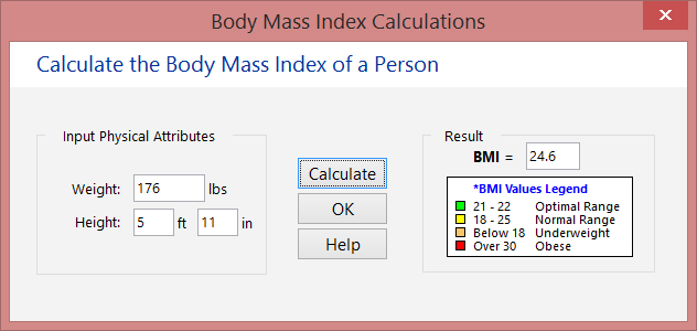 John has a healthy BMI of 24.6