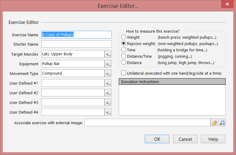 Add new exercise editor screen.