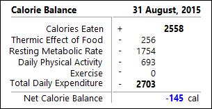 Energy Balance Panel (calories)